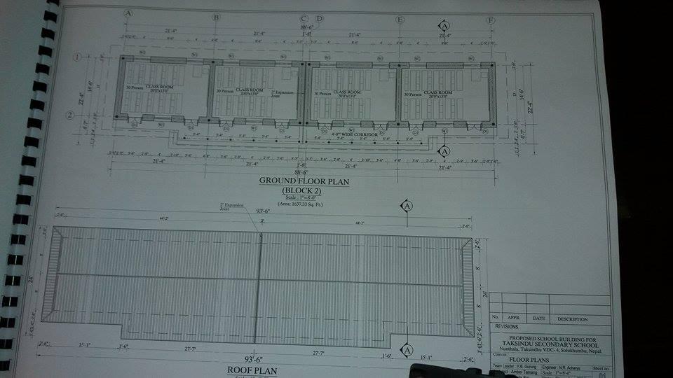 Progetto dell'edificio scolastico di 4 aule per Nunthala